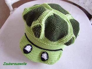 """Makerist - Häkelmütze """"Schildi-Die Schildkrötenmütze"""" für Kinder und Erwachsene - 1"""