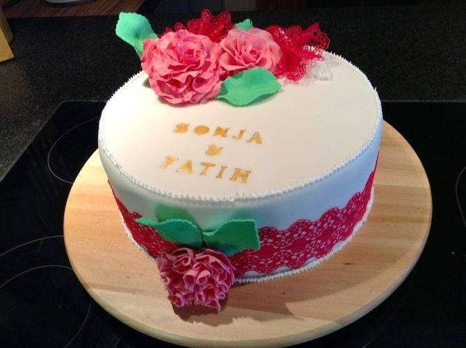 Kleine Hochzeitstorte von Jeanette Witzke - Torten, Cake Pops und ...
