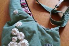 """Makerist - Schultertasche """"Halbmond mit barnacles"""", aus Baumwollstoff, für mich, Copyright orimono 4/2012 - 1"""