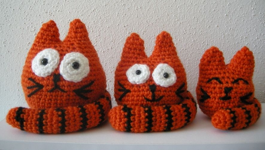 Makerist - Fat Cats Family - Häkelprojekte - 1