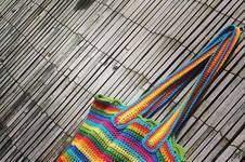 Makerist - Regenbogen-häkel-beutel - 1