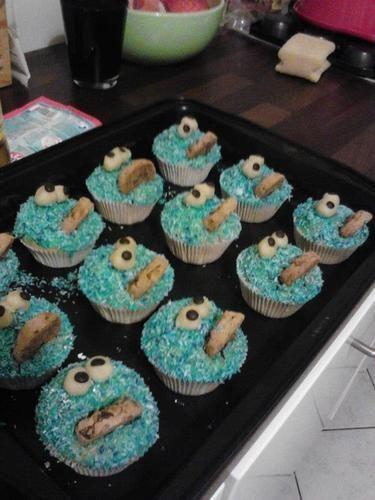 Makerist - Krümelmonstermuffins - Torten, Cake Pops und Cupcakes - 1