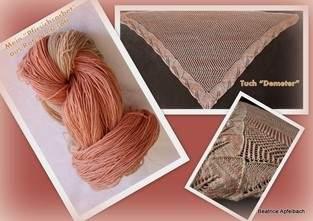 """Makerist - Tuch """"Demeter"""" aus solargefärbter Wolle - 1"""