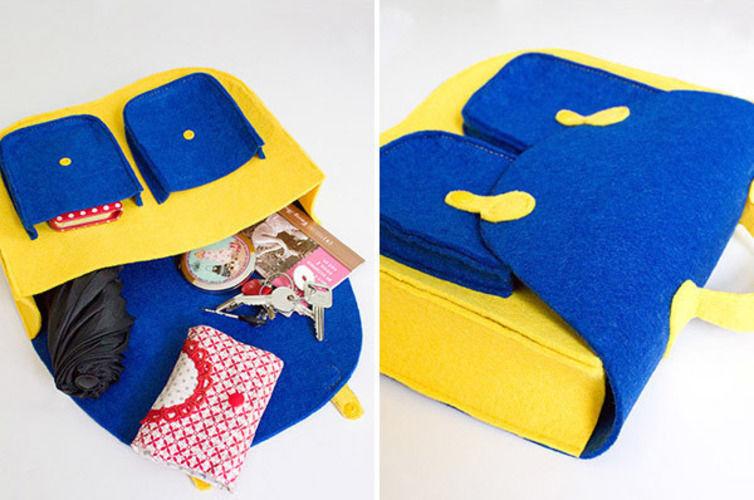 Makerist - Retro-Handtasche aus Filz - Nähprojekte - 2