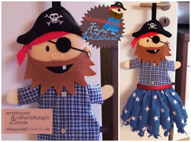"""Makerist - Adventskalender Pirat """"Käpt'n Wildbart"""" - Nähprojekte - 1"""