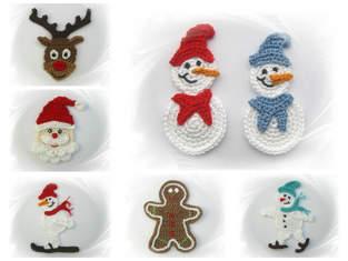 Makerist - Häkelapplikationen für Winter/Weihnachten - 1