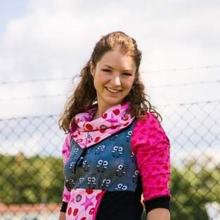Makerist - Schickes buntes Longshirt mit Schalkragen und Tasche - 1
