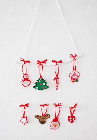 Makerist - Weihnachtliches Mobile mit Filzfiguren - 1