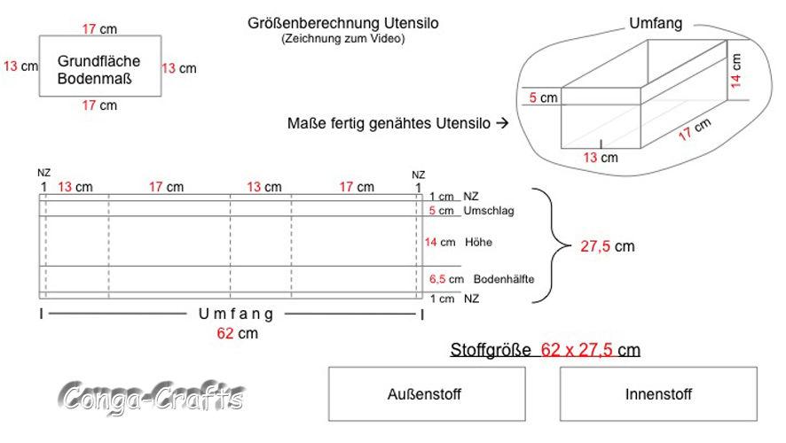 Makerist - Videoanleitung - Größenberechnung vom Utensilo/Stoffbehälter - Nähprojekte - 3