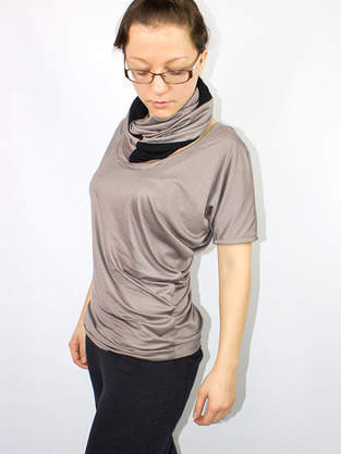 Makerist - Drapiertes Shirt aus veganen Stoffen - 1