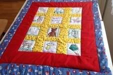 Makerist - Quiltabo für Flori, aus Baumwollstoffen und bemalten Quadraten, für meinen Großneffen - 1