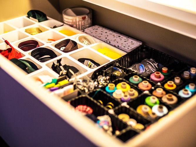 Makerist - Sortierbox-Idee aus altem Adventskalender - Werkzimmer - 1