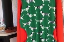 Makerist - Auf den Hund gekommen....Hoodiekleid, Dackel farbenfroh inszeniert - 1