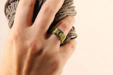 Makerist - Gehäkelter Ring in der Farbe grün - 1
