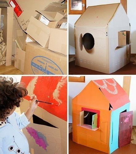 39 spielhaus aus karton 39 von frau scheiner diy projekte. Black Bedroom Furniture Sets. Home Design Ideas