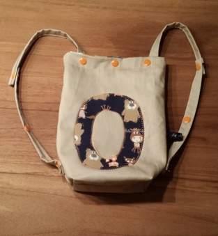 Makerist - Kindertasche/Rucksack aus Baumwolle/innen Wachstuch - 1