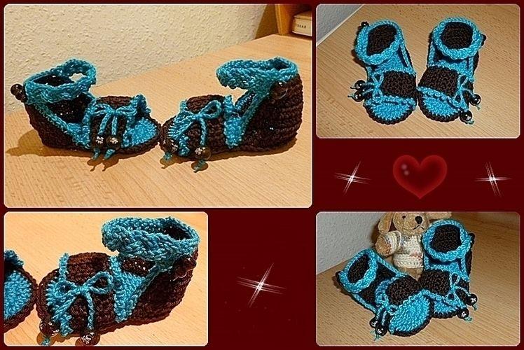 Makerist - Baby-Sandalen - Häkelprojekte - 1