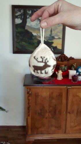 Makerist - Weihnachtskugel mit Elchmotiv - Strickprojekte - 1