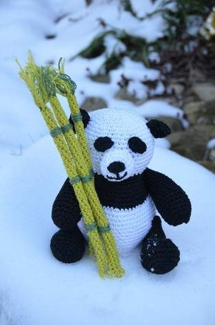 Makerist - Mini-Panda mit Bambus - 1