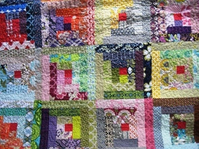 Makerist - Log Cabin Quilt - Patchwork-Projekte - 1