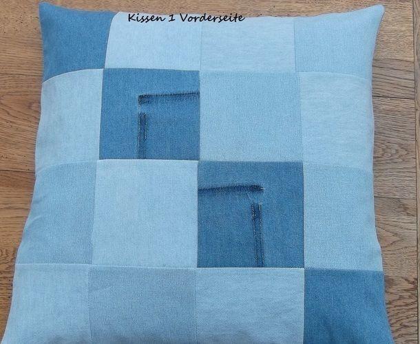Makerist - aus alt mach neu - alte Jeanshemden - neue Kissen - Nähprojekte - 1