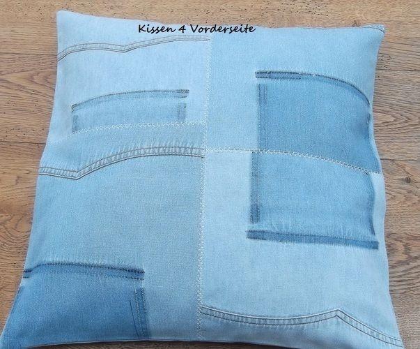 Makerist - aus alt mach neu - alte Jeanshemden - neue Kissen - Nähprojekte - 2