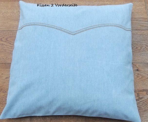 Makerist - aus alt mach neu - alte Jeanshemden - neue Kissen - Nähprojekte - 3