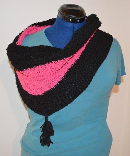 Makerist - Loop in pink und schwarz - Strickprojekte - 1