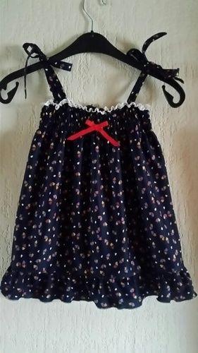 Makerist - Gesmoktes Trägerkleidchen aus Jersey für ein 3Jh altes Kind - Nähprojekte - 1