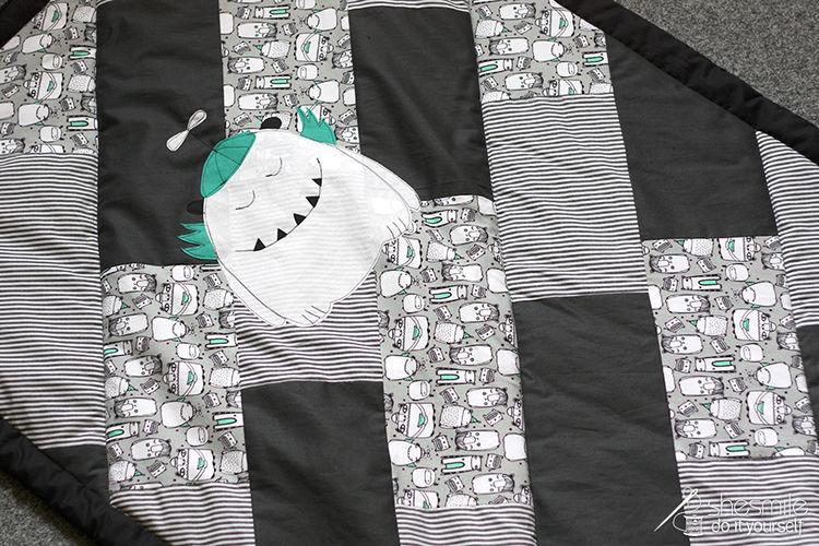 """Makerist - Krabbeldecke """"Stripes"""" - Nähprojekte - 1"""