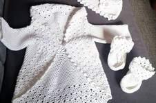 Makerist - Meine Taufgarnitur ,aus 60%  Baumwolle und 40%  Polyamid von Austermann für eine liebe Nachbarin gemacht  - 1