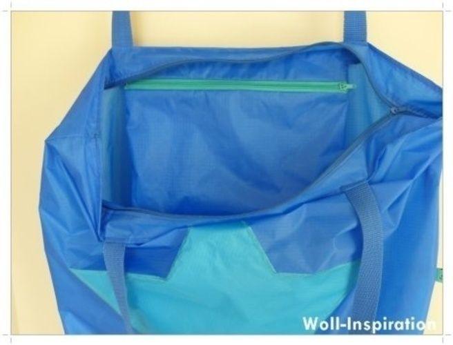 Makerist - Blau-petrol farbige Badetasche mit Stern    - Nähprojekte - 2