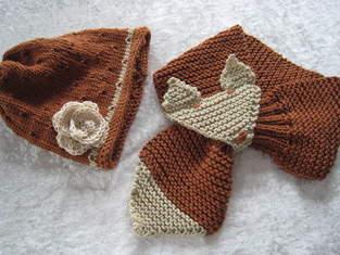 Makerist - Fuchssteckschal mit passender Mütze - 1