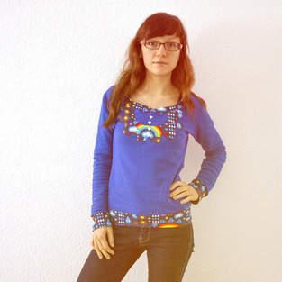 """Makerist - Pullover """"Joana"""" Regenbogen - 1"""