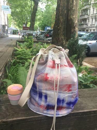 Makerist - Brushstrokes Canvas Tote bag - Nähprojekte - 1