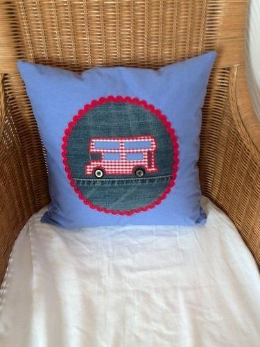 Makerist - Kinderkissen mit Bus Motiv - Nähprojekte - 1