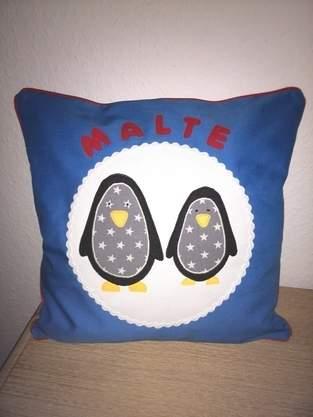 Makerist - Pinguin Kissen - 1