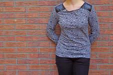 Makerist - Jerseyshirt mit Kunstledereinsatz - 1