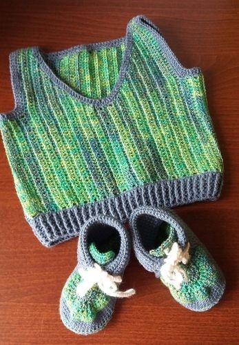 Makerist - Babypulunder mit passenden Schuhen - Häkelprojekte - 1