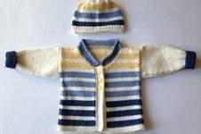 Makerist - Babyjäckchen mit passender Mütze für kleine Jungs in Gr. 50/56 - 1