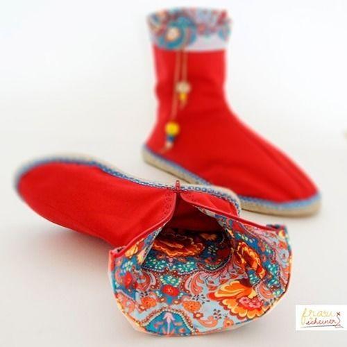 Makerist - Stiefel mit Espadrilles Sohlen nähen - Nähprojekte - 1