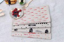 Makerist - Serviette en tissu tamponné - 1