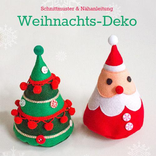 Makerist - Weihnachtsmann und Weihnachtsbaum aus Filz - Nähprojekte - 1