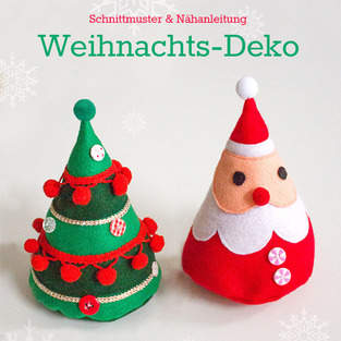 Makerist - Weihnachtsmann und Weihnachtsbaum aus Filz - 1