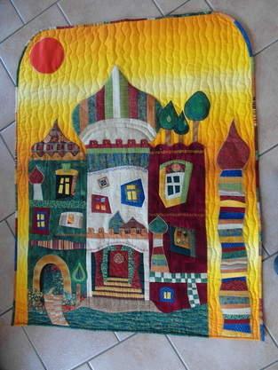 Makerist - Wandbehang nach Ideen von Hundertwasser. Den Wandbehang habe ich aus Interesse an eigenen Entwürfen gefertigt - 1