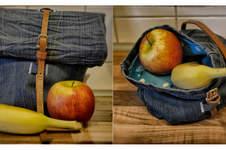 Makerist - Upcycled Lunchbag aus Jeans und Wachstuch - 1