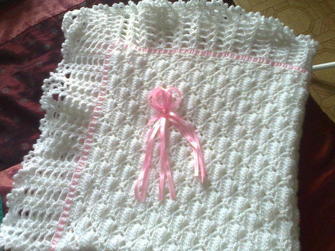 bordure au crochet pour couverture bebe