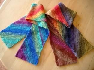 Makerist - kleine Schals aus japanischer Sockenwolle - 1