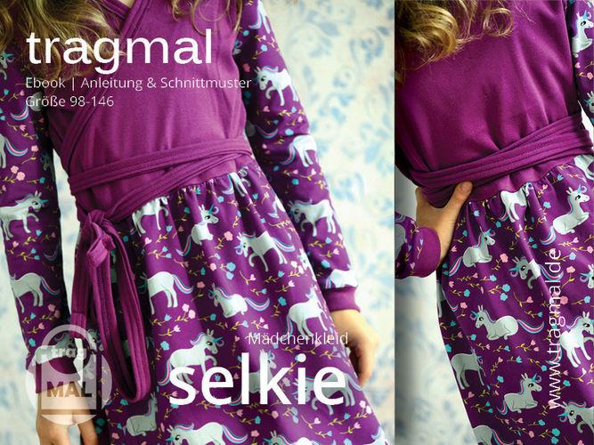 Makerist - Freebook Wickelkleid SELKIE für Mädchen - Nähprojekte - 1