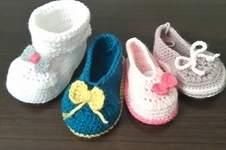 Makerist - Chaussons fille 0/3mois en laine et acrylique  - 1